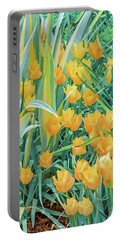 Behold, Tis The Season Of Tulip. April Is Here.   Portable Battery Charger by Bijan Pirnia