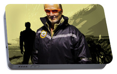 Portable Battery Charger featuring the photograph Being In The Movie IIi by Al Bourassa