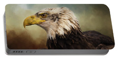 Portable Battery Charger featuring the photograph Being Patient - Eagle Art by Jordan Blackstone