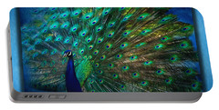 Being Yourself - Peacock Art Portable Battery Charger