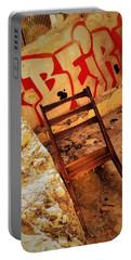 Beirut Graffiti With A Lonely Chair  Portable Battery Charger