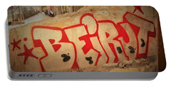 Beirut On A Graffiti Wall Portable Battery Charger