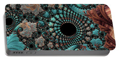 Portable Battery Charger featuring the digital art Bejeweled Fractal by Bonnie Bruno