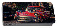 Portable Battery Charger featuring the photograph Bel Air Hotrod by Joel Witmeyer