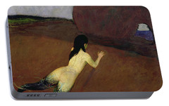 Belanschung Portable Battery Charger by Franz von Stuck
