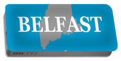 Portable Battery Charger featuring the photograph Belfast Maine State City And Town Pride  by Keith Webber Jr