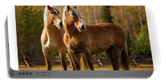 Belgian Draft Horses Portable Battery Charger