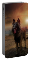 Belgian Shepherd Portable Battery Charger by Rose-Marie Karlsen