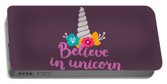 Believe In Unicorn Portable Battery Charger