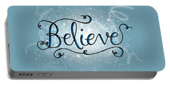 Believe Winter Art Portable Battery Charger