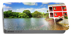 Belize River House Reflection Portable Battery Charger