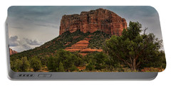 Portable Battery Charger featuring the photograph Courthouse Butte - Sedona  by Saija Lehtonen