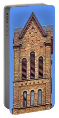 Bell Tower - First Congregational Church - Jackson - Michigan Portable Battery Charger