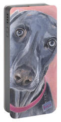 Portable Battery Charger featuring the painting Bella by Jamie Frier