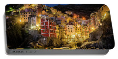 Riomaggiore At Night Portable Battery Charger