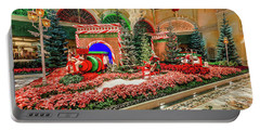 Bellagio Christmas Train Decorations Angled 2017 Portable Battery Charger
