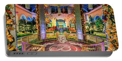 Bellagio Conservatory Fall Peacock Display Gazebo View 2017 Portable Battery Charger