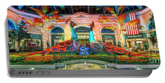 Bellagio Conservatory Fall Peacock Display Panorama 3 To 1 Ratio Portable Battery Charger