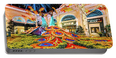 Bellagio Conservatory Fall Peacock Display Side View Wide 2017 Portable Battery Charger