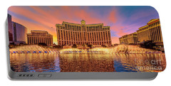 Bellagio Fountains Warm Sunset 2 To 1 Ratio Portable Battery Charger