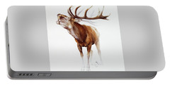 Belling Stag Watercolor Portable Battery Charger
