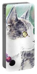 Beloved Cat Portrait  Portable Battery Charger