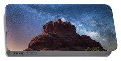 Below The Milky Way At Bell Rock Portable Battery Charger