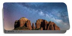 Below The Milky Way At Cathedral Rock Portable Battery Charger