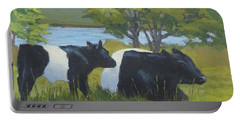 Belted Galloway And Calf Portable Battery Charger