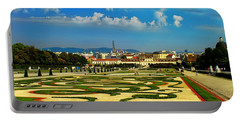 Portable Battery Charger featuring the photograph Belvedere Palace Gardens by Mariola Bitner