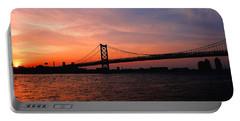 Ben Franklin Bridge Sunset Portable Battery Charger