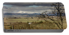 Portable Battery Charger featuring the photograph Ben Ledi Across The Carse by RKAB Works