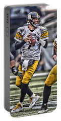 Ben Roethlisberger Pittsburgh Steelers Art Portable Battery Charger