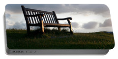 Bench At Sunset Portable Battery Charger