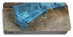 Portable Battery Charger featuring the photograph Benches And Blues by Prakash Ghai