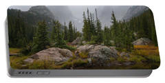 Portable Battery Charger featuring the photograph Beneath Hallett Peak by Dustin LeFevre