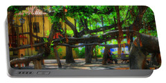 Beneath The Banyan Tree Portable Battery Charger by DJ Florek