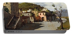 Provincia Di Benevento-italy Small Town The Road Home Portable Battery Charger