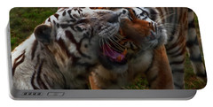 Portable Battery Charger featuring the photograph Bengal Tiger And White Bengal Tiger by Chris Flees