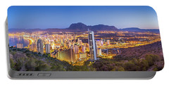 Benidorm At Sunrise, Spain. Portable Battery Charger