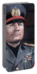 Benito Mussolini Color Portrait Circa 1935 Portable Battery Charger