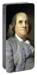 Benjamin Franklin Painting Portable Battery Charger
