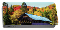 Bennett Covered Bridge In Fall Portable Battery Charger