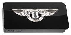 Bentley - 3 D Badge On Black Portable Battery Charger