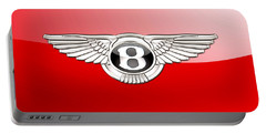 Bentley 3 D Badge On Red Portable Battery Charger