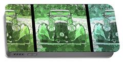 Bentley Green Pop Art Triple Portable Battery Charger