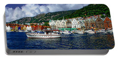Bergen - Norway Portable Battery Charger by Anthony Dezenzio