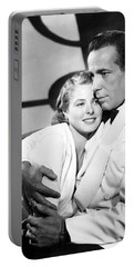 Bergman And Bogart 1942 Portable Battery Charger by Daniel Hagerman