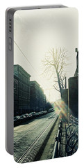 Berlin Street With Sun Portable Battery Charger