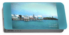 Bermuda Coastal Cabins Portable Battery Charger by Luther Fine Art